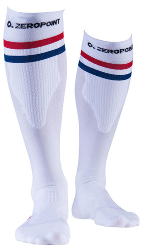 Zeropoint Compression socks white 2 stripe