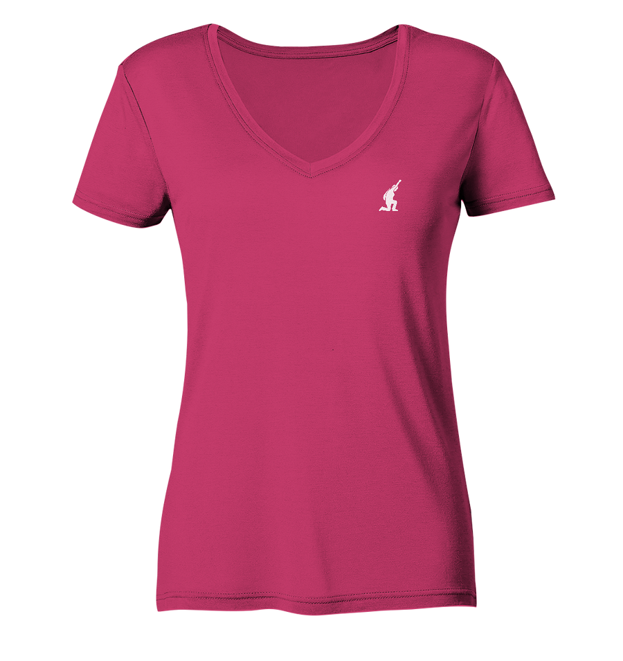 Ladies Organic V-Neck Shirt -leise -weiß - Sonderedition