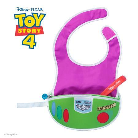 b.box Dinsey Travel Bib & Flexible Spoon Eat & Drink b.box Buzz Lightyear - Toy Story