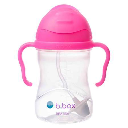 b.box Sippy Cup Tweedlenz Neon Pink Pomegranate