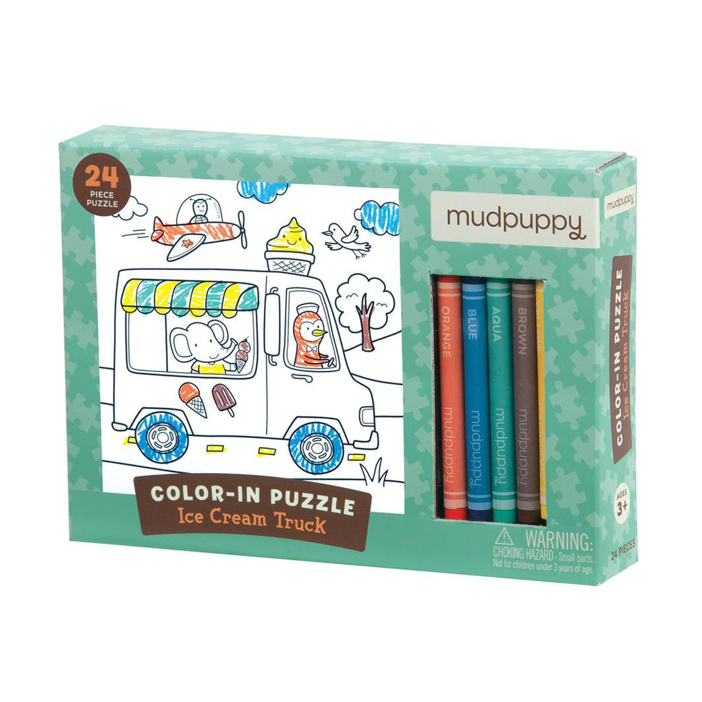 Colour in Puzzle Learn & Play Mudpuppy Ice Cream Truck