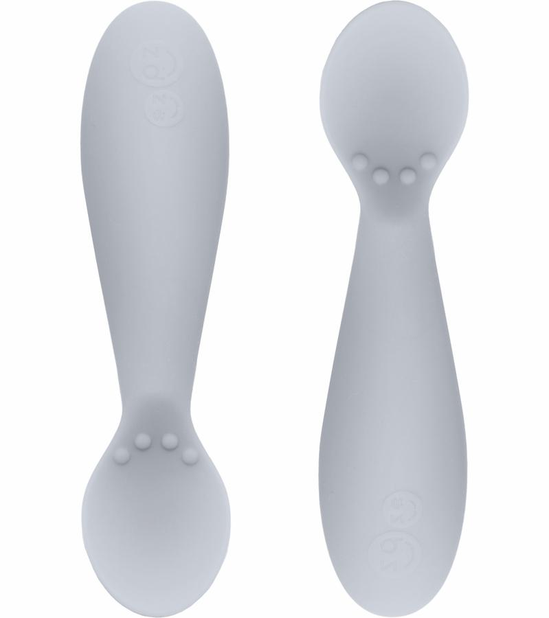 Ezpz Tiny Spoon - 2 pack Tweedlenz Pewter [ON BACKORDER]