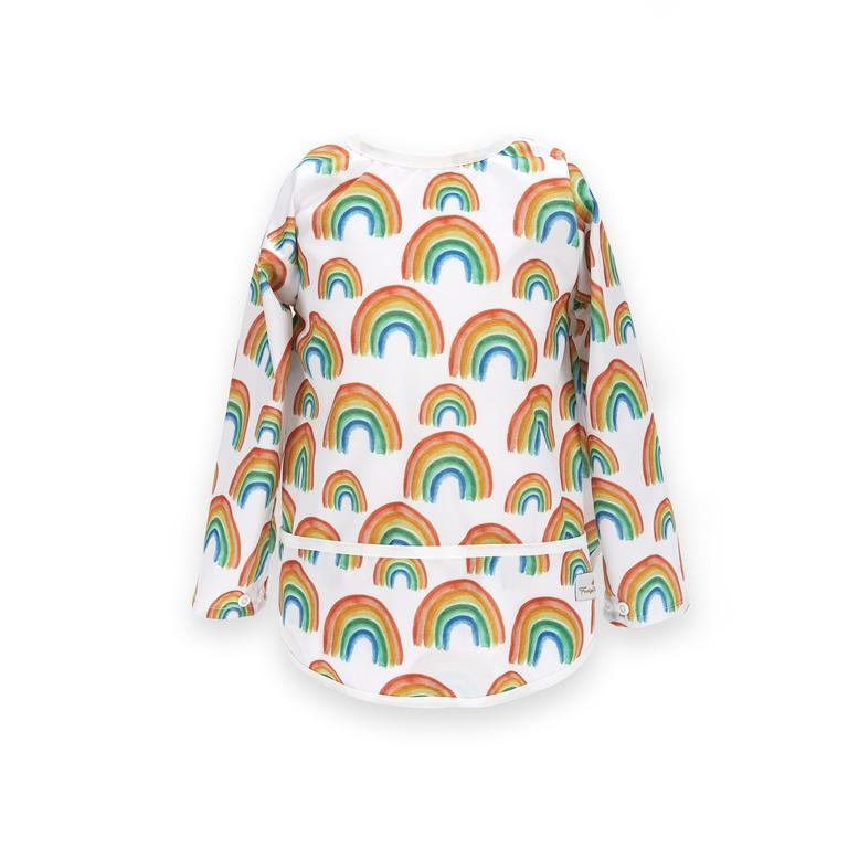 Fudgey Pants Sleeved Bib (pre-order) Eat & Drink Fudgey Pants Prismatic Medium | 18-36 months