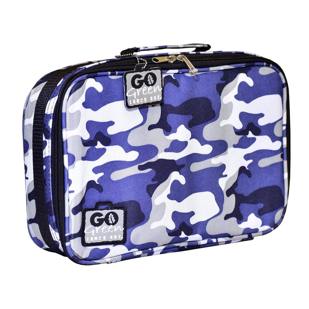 Go Green Lunch Box Set Eat & Drink Go Green Blue Camo - GREEN