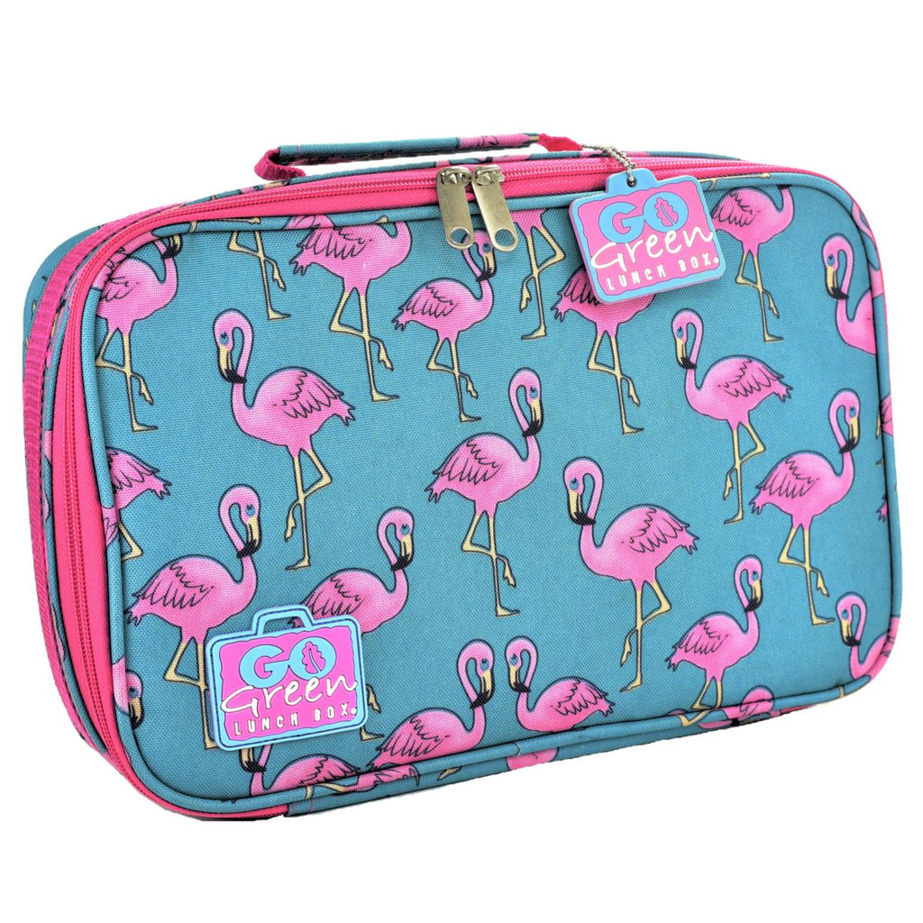 Go Green Lunch Box Set Eat & Drink Go Green Flamingo - PURPLE