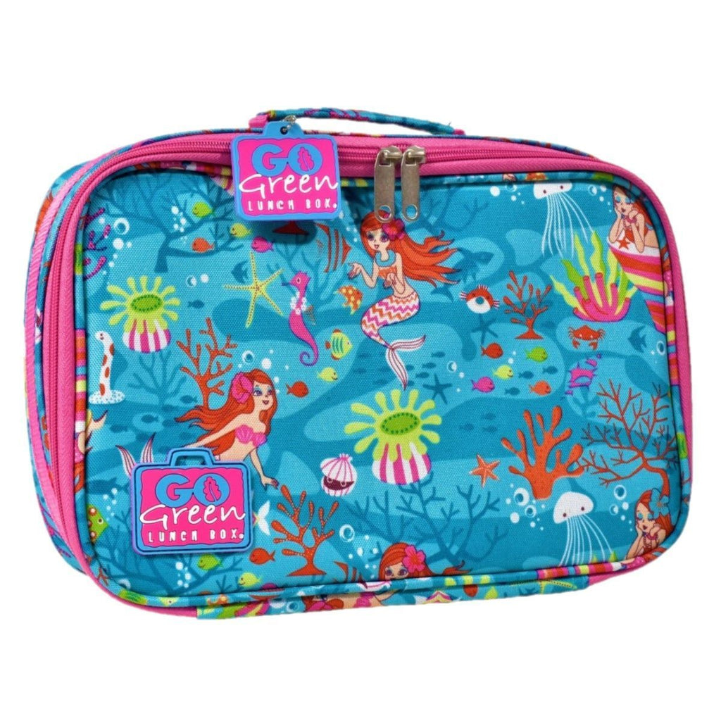 Go Green Lunch Box Set Eat & Drink Go Green Mermaid - PURPLE