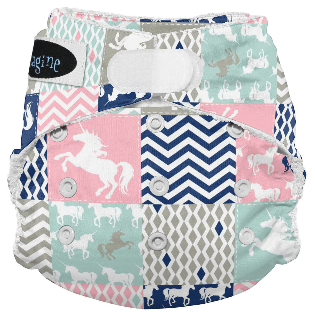 Imagine Bamboo AIO Nappies Imagine Baby Unicorn Dreams [PRE-ORDER] Hook & Loop