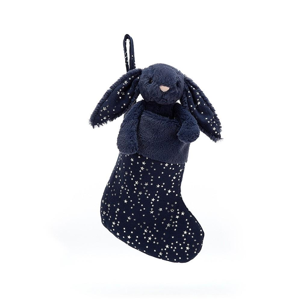 Jellycat Bashful Bunny Stocking Tweedlenz Stardust
