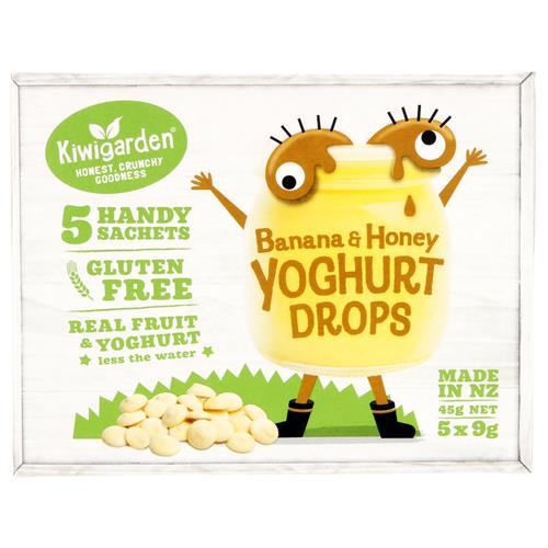 Kiwigarden Yoghurt Drops – Box of 5 (9g packs) Tweedlenz Banana & Honey