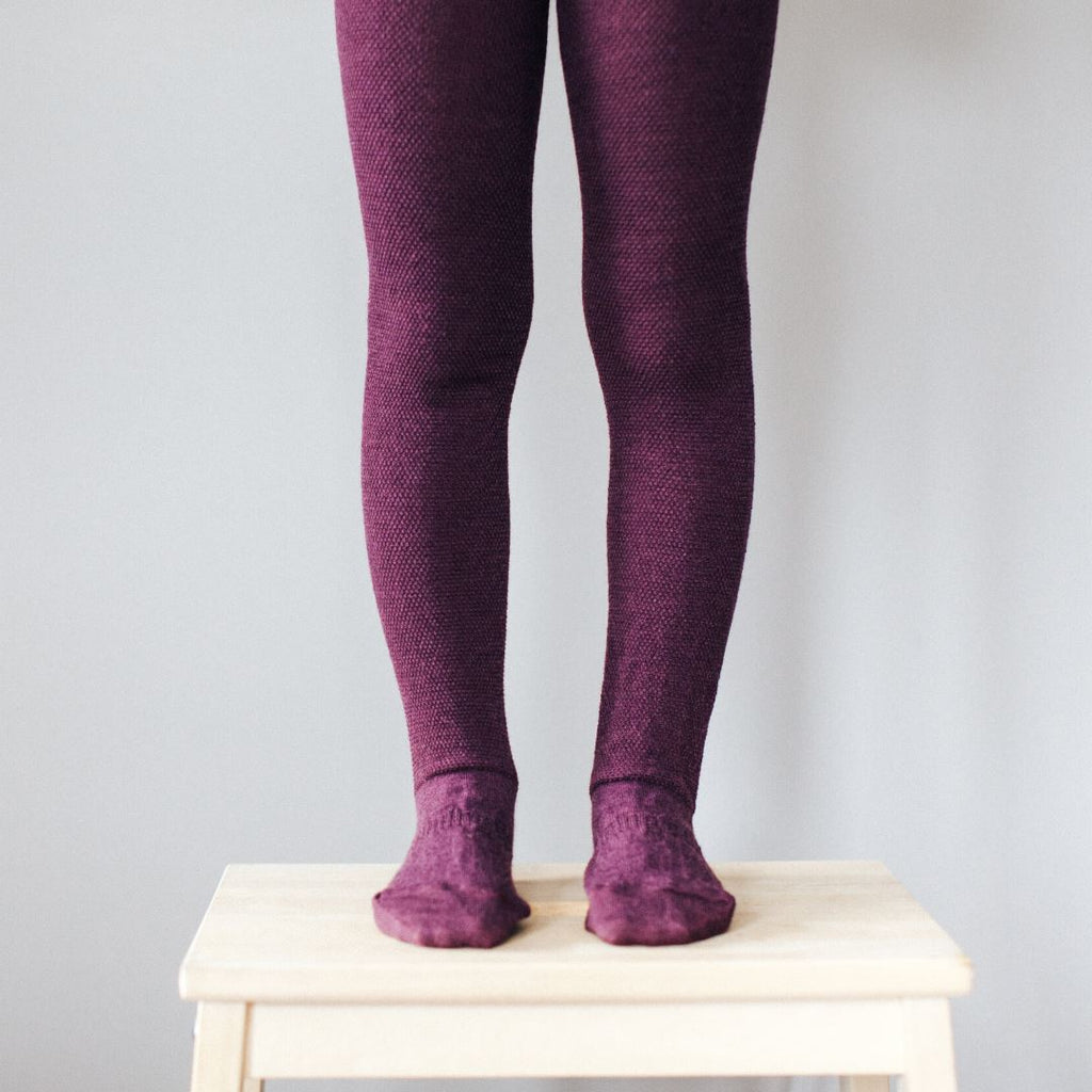 Lamington Merino Wool Tights Sleep & Wear Lamington Oak - Textured