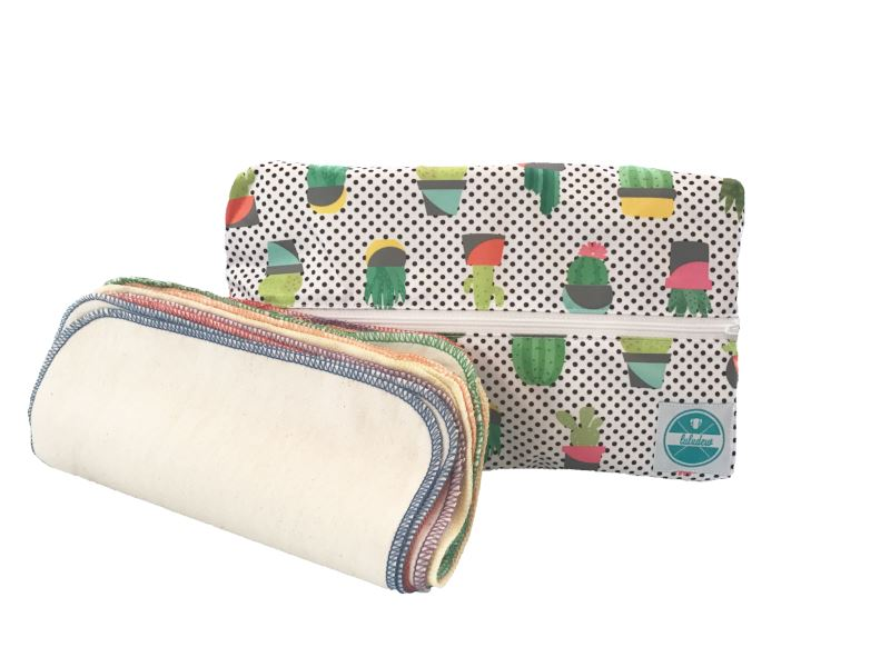 Luludew Wipe Bag Set Tweedlenz Kactus