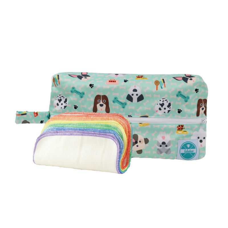 Luludew Wipe Bag Set Tweedlenz Woof