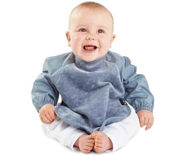 Mum2Mum Sleeved Wonder Bib Tweedlenz Grey Large