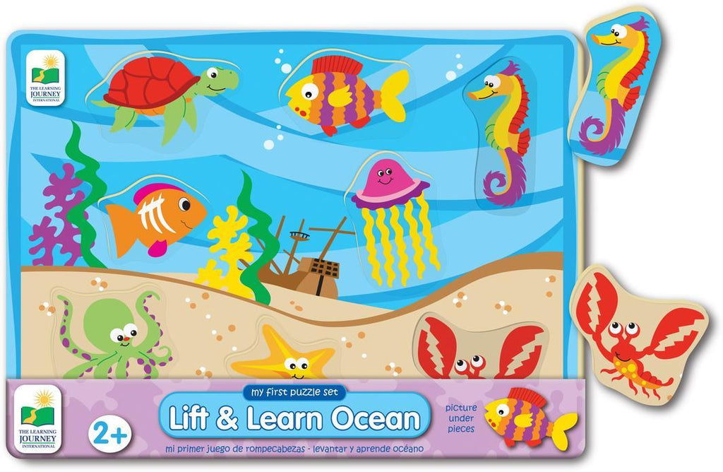 My First Lift & Learn Puzzle Learn & Play Logical Toys Ocean