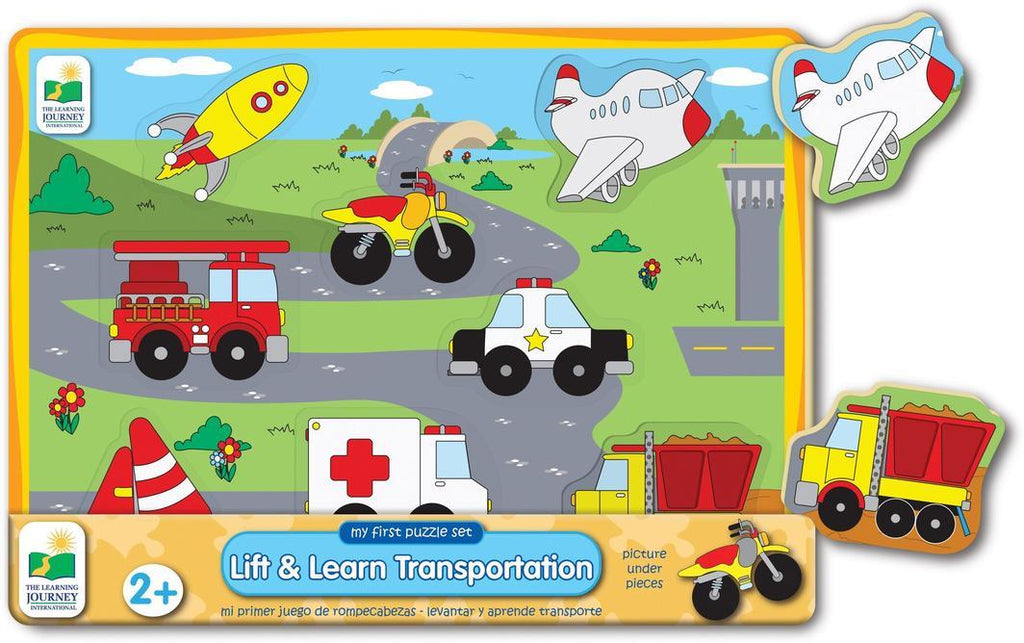 My First Lift & Learn Puzzle Learn & Play Logical Toys Transportation