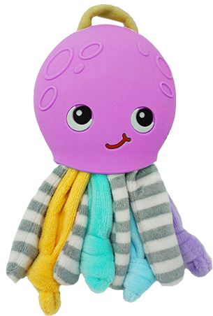 Ollie Octopus Teether Learn & Play Logical Toys Pinky/Purple
