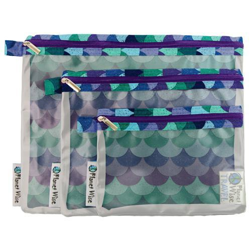 Planetwise Clear Pouch - 3 pack Nappies Planet Wise Mermaids Tail