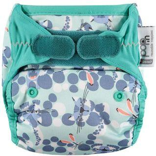 Pop-In Bamboo Nappy - Endangered Winter Collection Tweedlenz Snow Leopard Hook & Loop