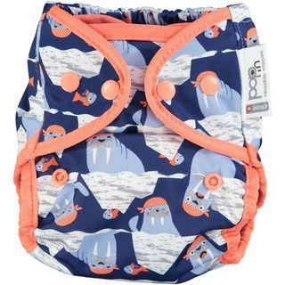 Pop-In Bamboo Nappy - Endangered Winter Collection Tweedlenz Walrus Snaps