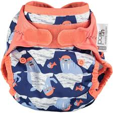 Pop-In Nappy Wrap Tweedlenz Walrus Hook & Loop
