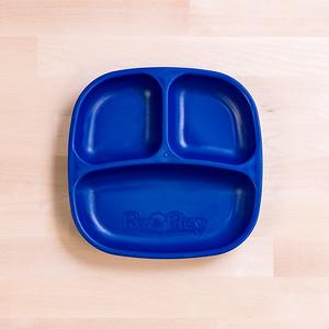 RePlay Divided Plates Tweedlenz Navy Blue