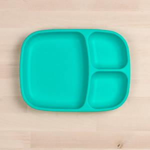 RePlay Divided Tray Plate Tweedlenz Aqua