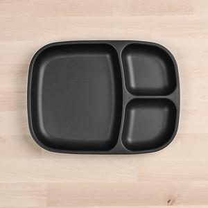 RePlay Divided Tray Plate Tweedlenz Black