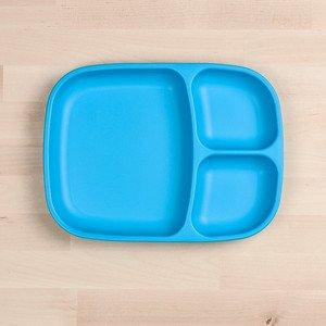 RePlay Divided Tray Plate Tweedlenz Sky Blue