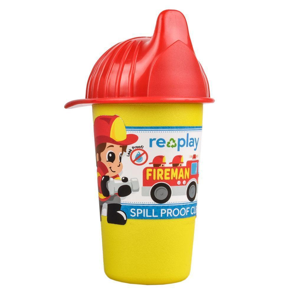 Replay No Spill Sippy Cup - Fireman Eat & Drink Replay
