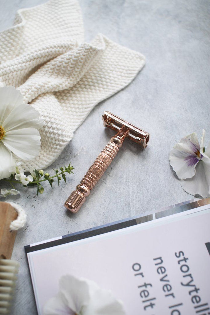 Sustainablah Stainless Steel Safety Razor - The Rose Gold Edition Tweedlenz