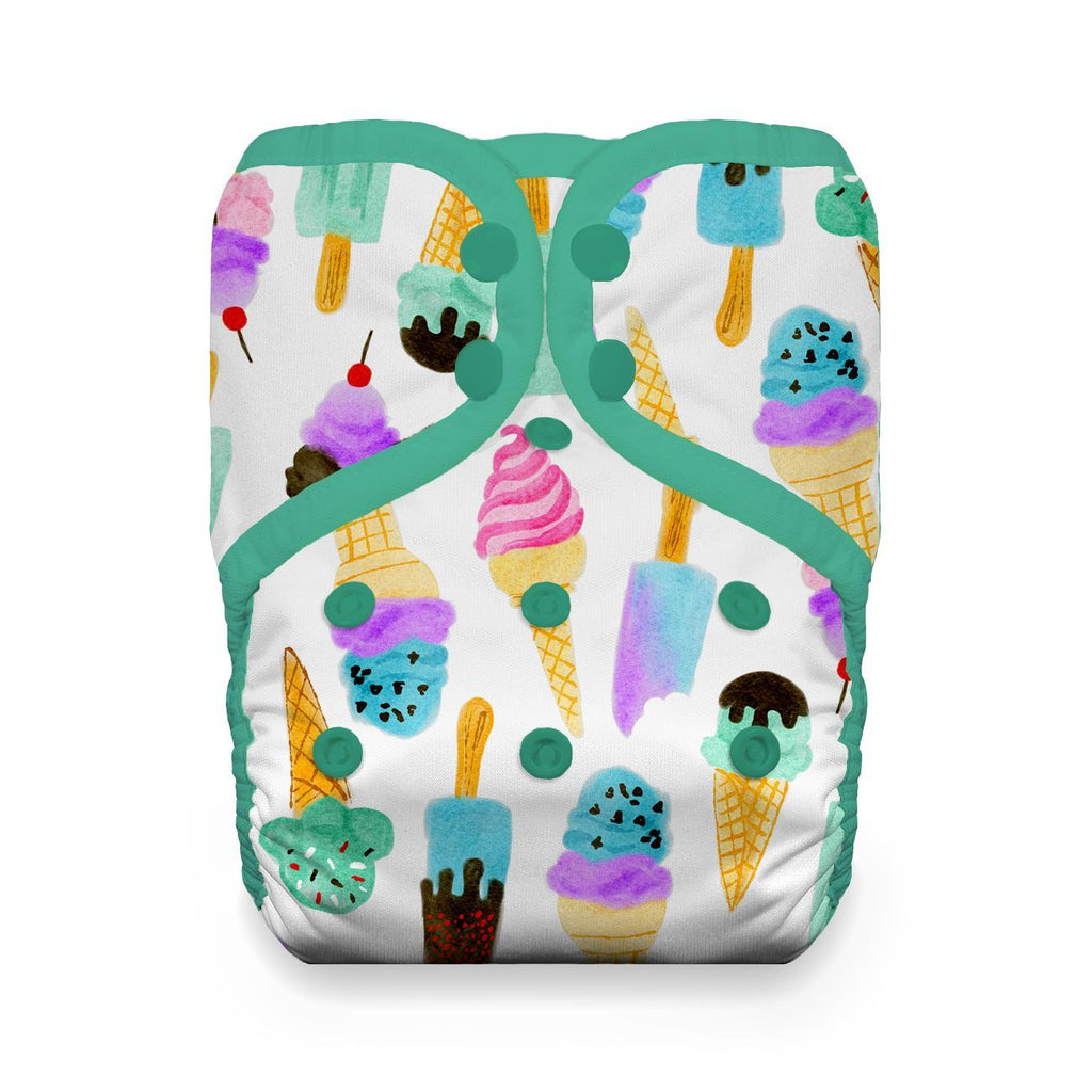 Thirsties Pockets Nappies Thirsties We All Scream Snaps Natural