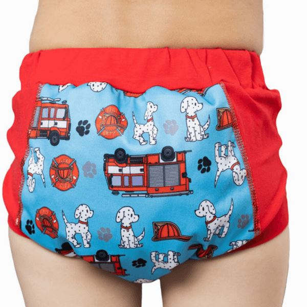 Wee Pants Tweedlenz Fire Trucks Size 3&4