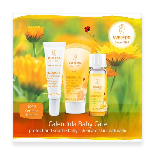 Weleda Calendula Baby Care Starter Pack Bath & Care Weleda