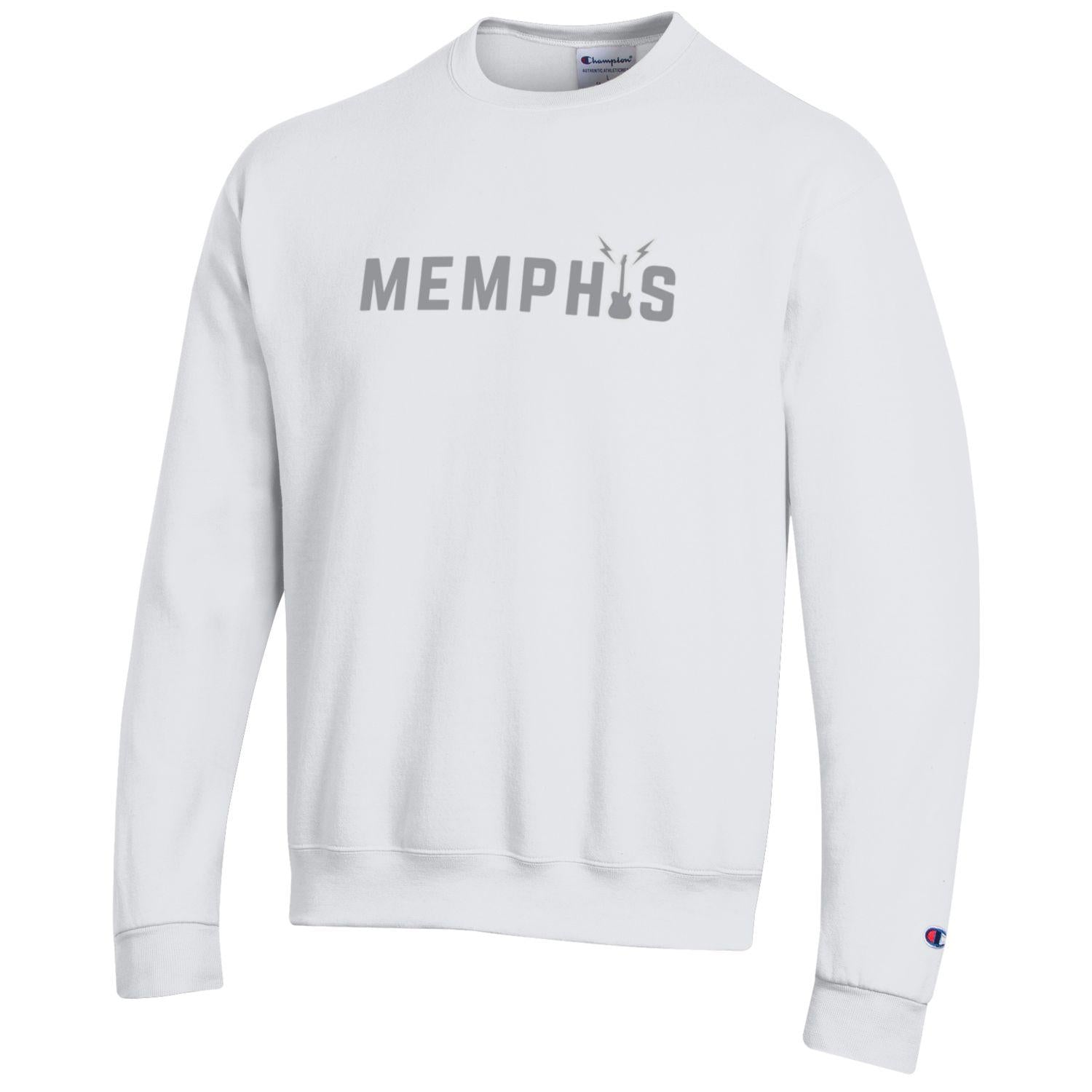 Memphis Embroidered Sweatshirt- White