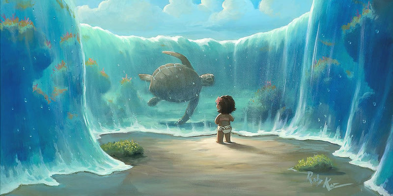 Moana's New Friend -  Disney Treasure On Canvas