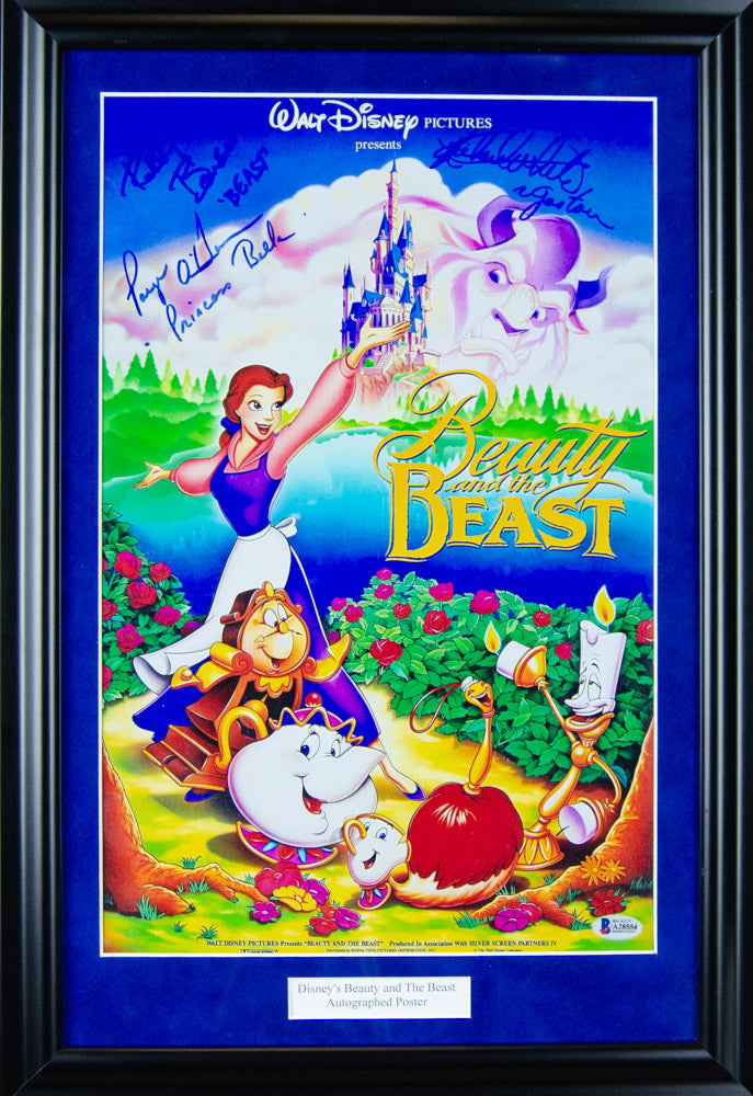 Disney's Beauty and the Beast Autographed Poster