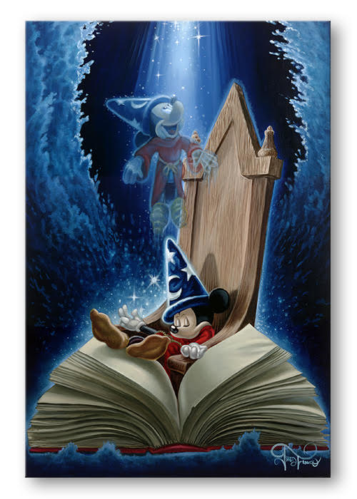 Dreaming of Sorcery - Hand-Embellished Giclée on Canvas - AP / Artist's Proof