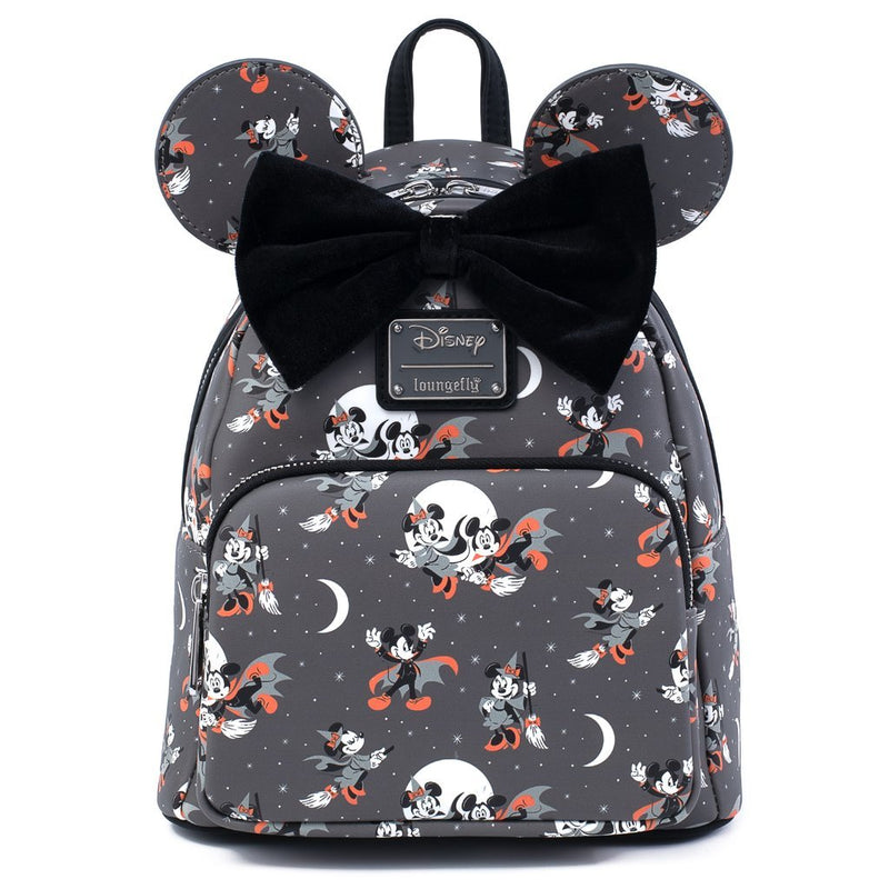 Mickey/Minnie Halloween Vamp Witch AOP Mini Backpack