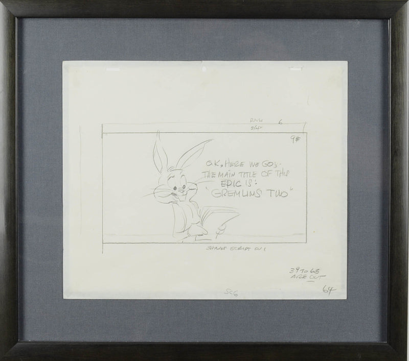 Bugs Bunny Gremlins 2 Production Drawing