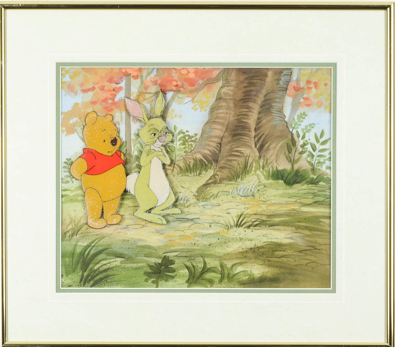 Winnie the Pooh and Rabbit Hand Painted Cel