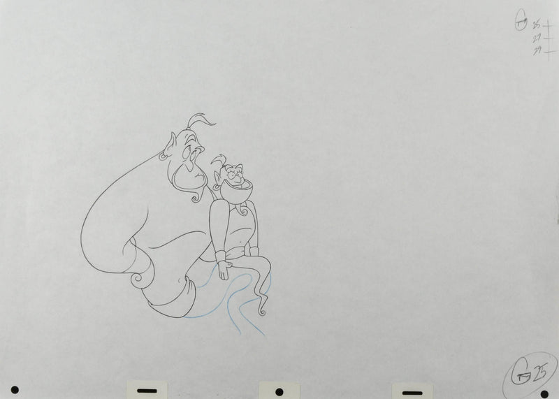 Aladdin Genie Production Drawing