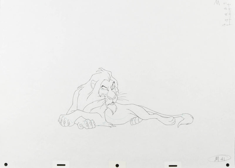 Lion King Scar Production Drawing