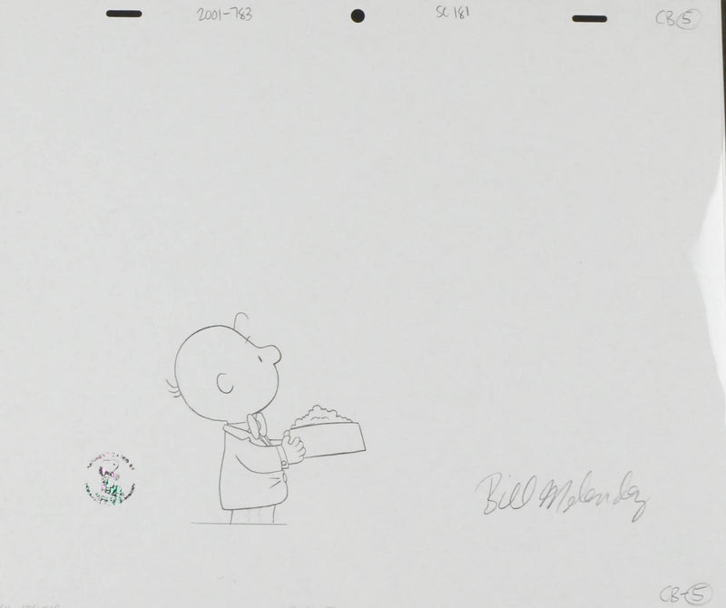 Charlie Brown Dog Dish Production Drawing