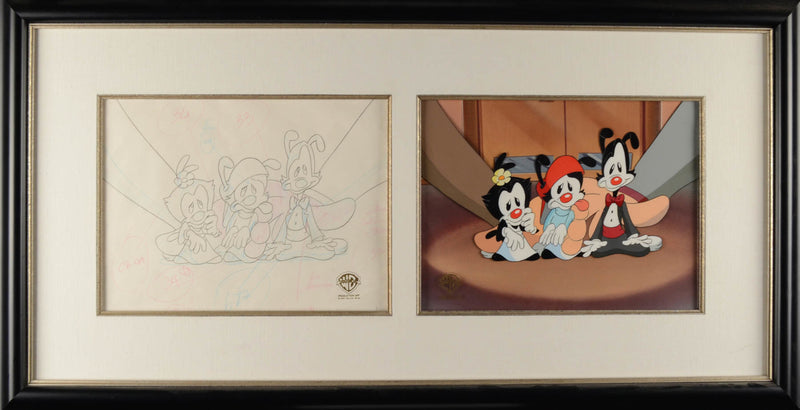 ANIMANIACS Production Drawing & Hand Painted Cel