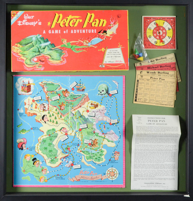 1953 Peter Pan Board Game Display