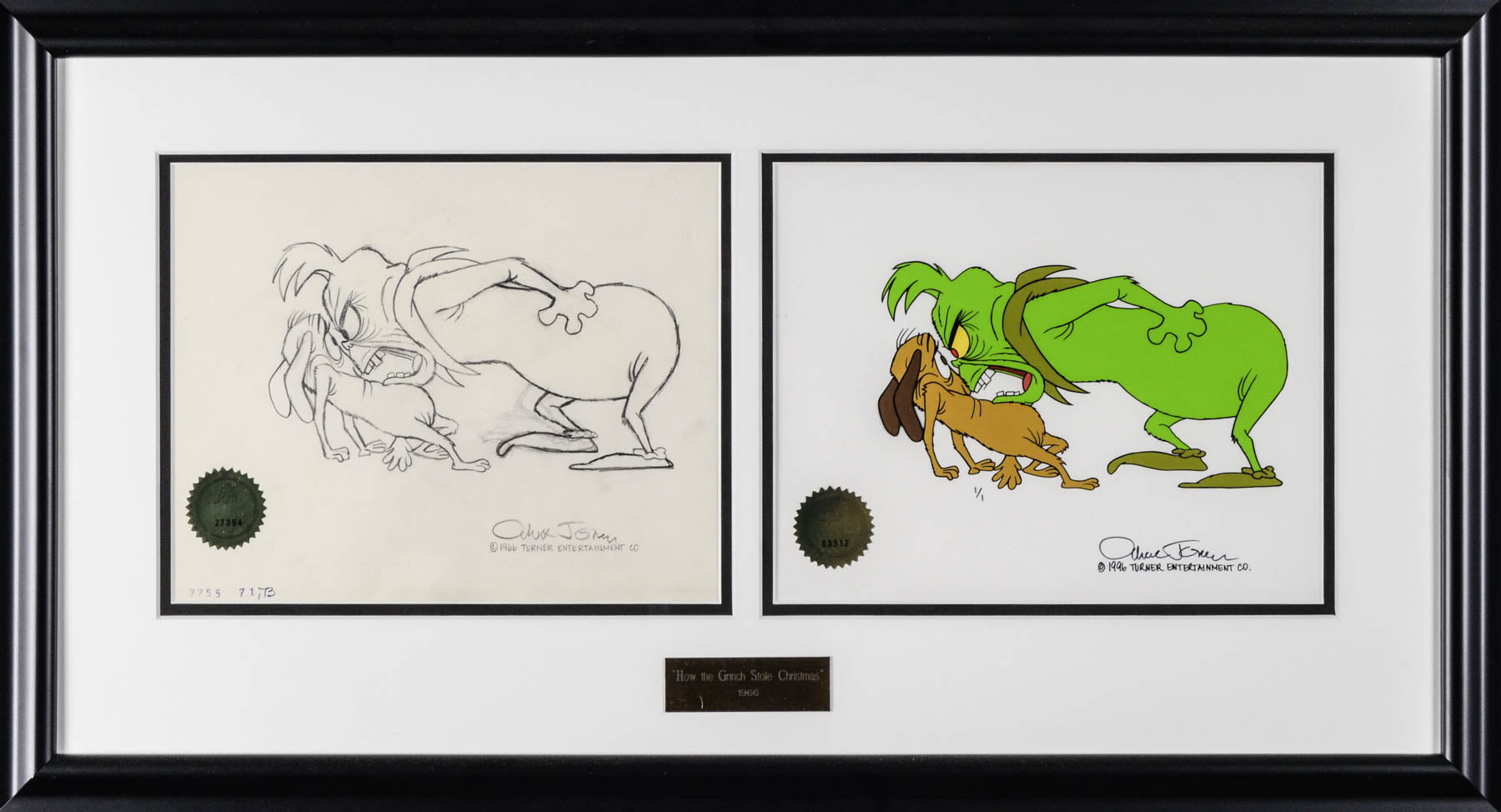 Grinch Production Drawing/Hand Painted Cel