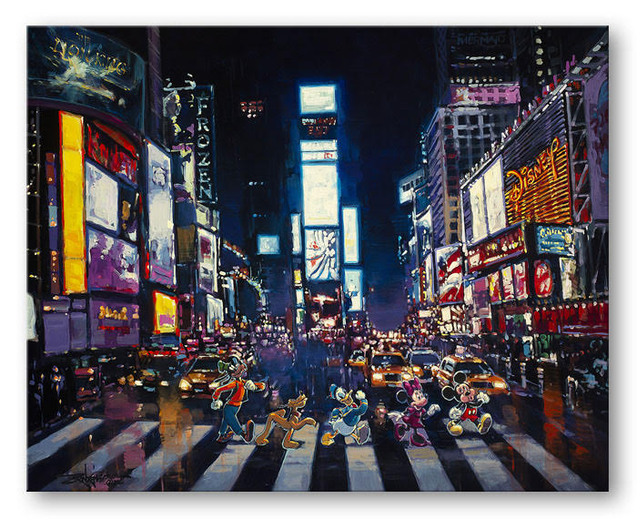 Bright Lights of Manhattan - Disney Treasure On Canvas