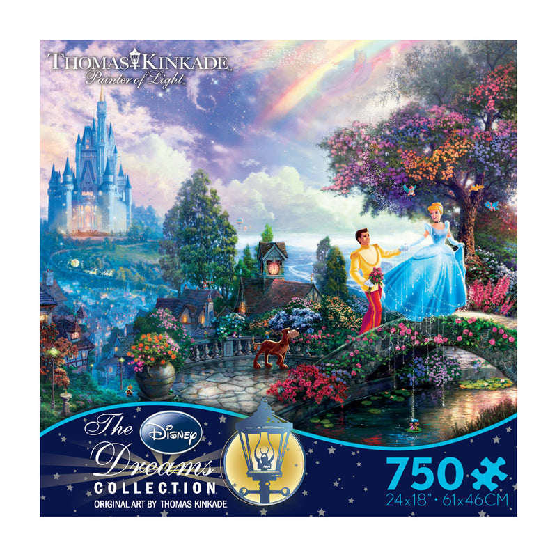 Thomas Kinkade Disney Dreams: Cinderella Wishes Upon a Dream - 750pc Jigsaw Puzzle