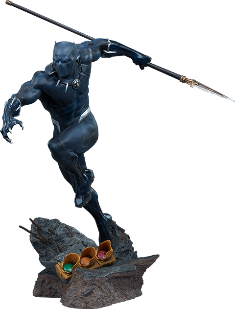 Black Panther Avengers Assemble Statue