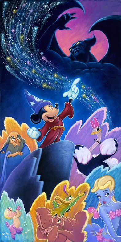 Splashes of Fantasia -  Disney Treasure On Canvas